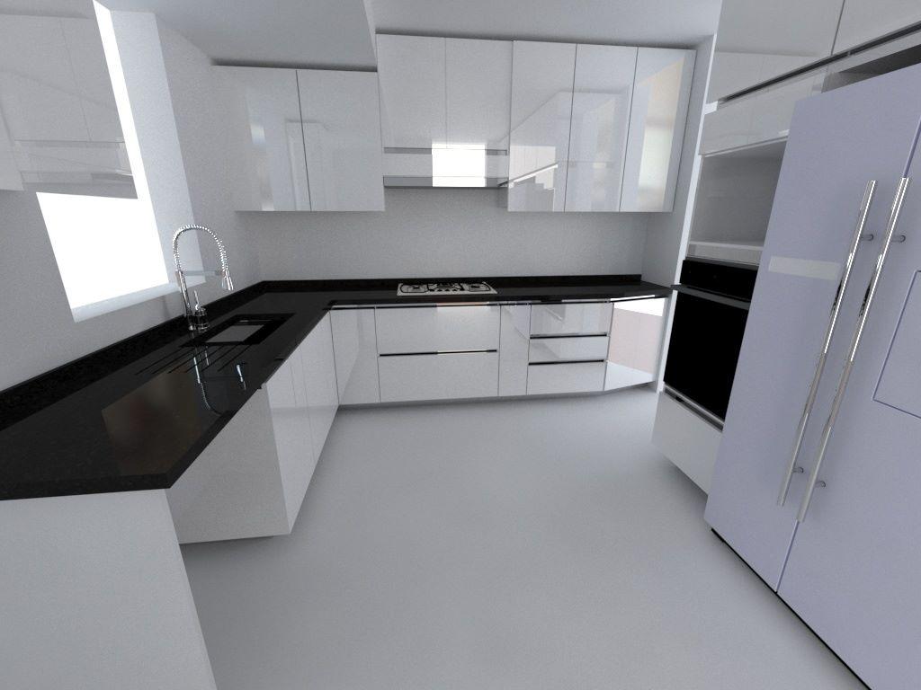 Muebles De Cocina A Medida Diseño 3d - $ 1 en Mercado Libre