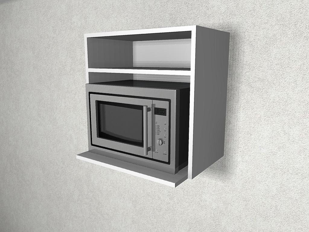 Muebles De Cocina Alacena Porta Microondas 60 Cm. Mdf 18 - $ 1.900 ...