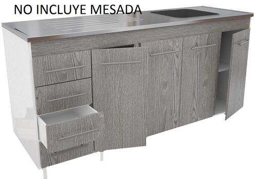 muebles de cocina bajo mesada 1.60  larice 470 orlandi