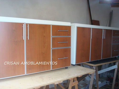 muebles de cocina, bajo mesada con cantos de aluminio