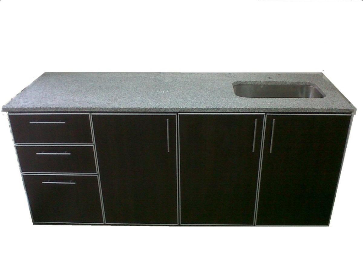Muebles De Cocina C/cantos De Aluminio, Bajo Mesada 1.60 Mts ...