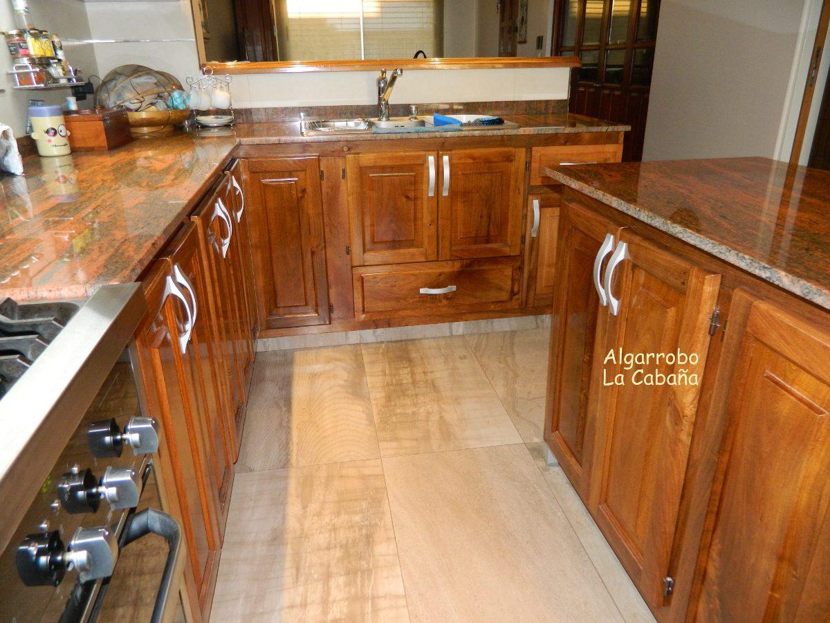 Muebles De Cocina En Algarrobo Macizo! La Mejor Calidad!!! - $ 4.675 ...