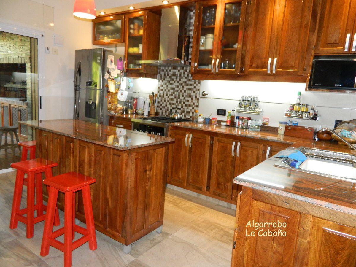 Muebles De Cocina En Algarrobo Macizo! La Mejor Calidad!!! - $ 3.335 ...