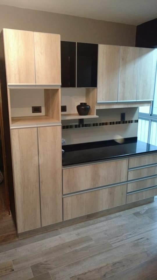 Muebles De Cocina En Melamina Con Filos Abs Y Jota Jqm - $ 16.480,00 ...