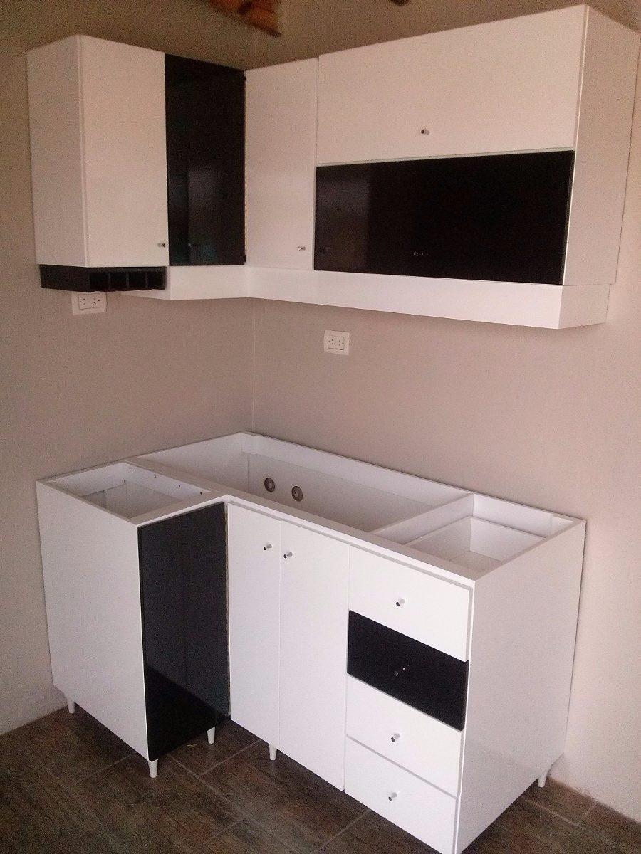 Muebles De Cocina Laqueado Blanco Brillante - $ 4.440,00 en Mercado ...