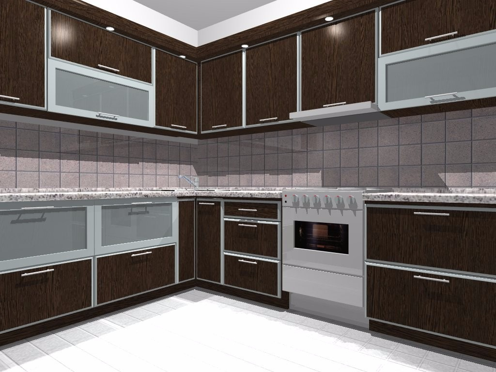 Muebles de cocina moderno alacena bajo mesada 1 metro for Muebles para cocina modernos