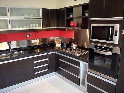 Muebles De Cocina Moderno, Alacena, Bajo Mesada, 1 Metro - $ 8.999 ...