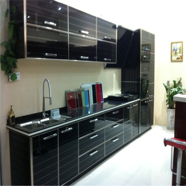 Muebles De Cocina Modernos De Melamina Puertas De Cristal