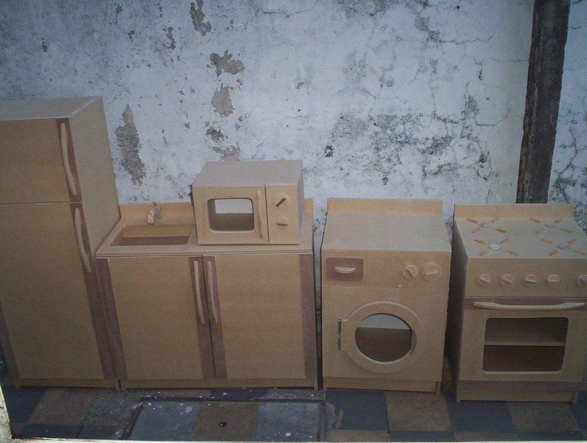 Muebles De Cocina Para Chixos Sin Pintar 1 000 00 En Mercado  # Muebles Sin Pintar