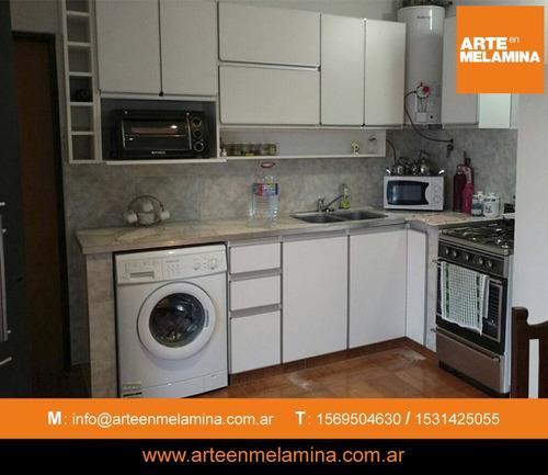 muebles de cocina, placares zona sur y caba arte en melamina