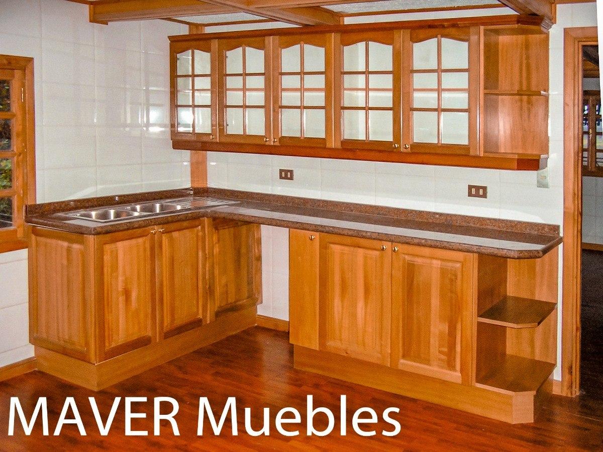 Muebles de cocina rustico madera modernos dise os a for Muebles de cocina de madera modernos
