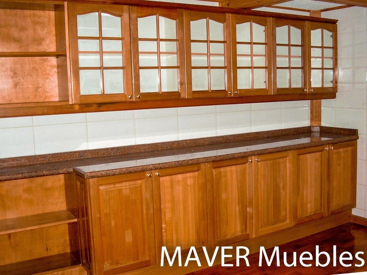 Muebles De Cocina Rustico Madera, Modernos Diseños A Medida - $ 1 en ...