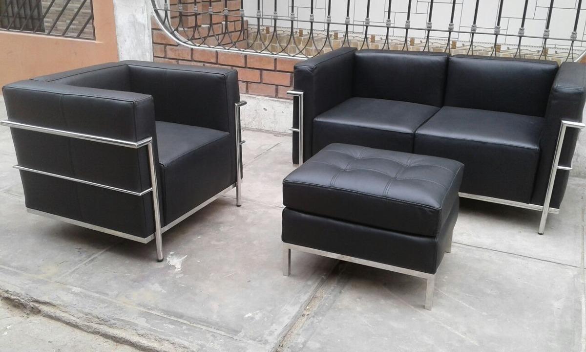 Muebles De Cuero Mod . Le. Corbusier - S/ 2.600,00 en Mercado Libre
