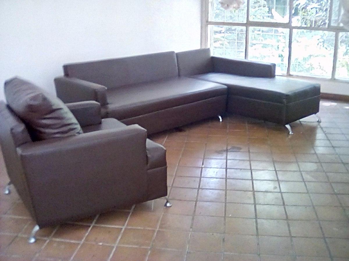 Muebles De Cuero Originales Patas Cromadas Como Nuevos Bs  # Muebles Puro Cuero