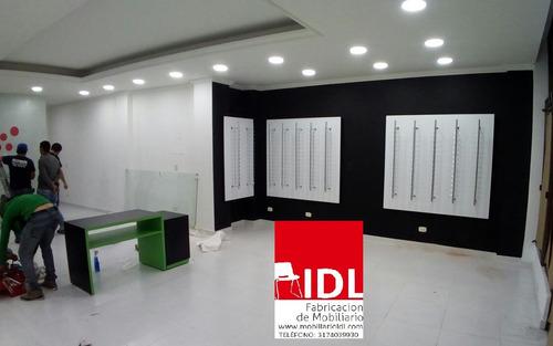 muebles de  exhibición para óptica