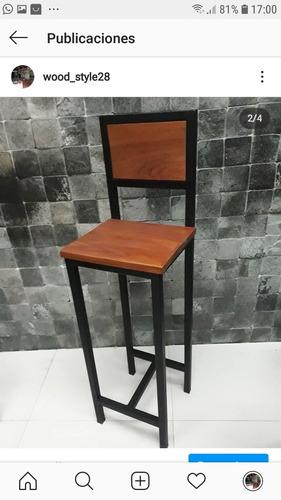 muebles de hierro y madera a medida