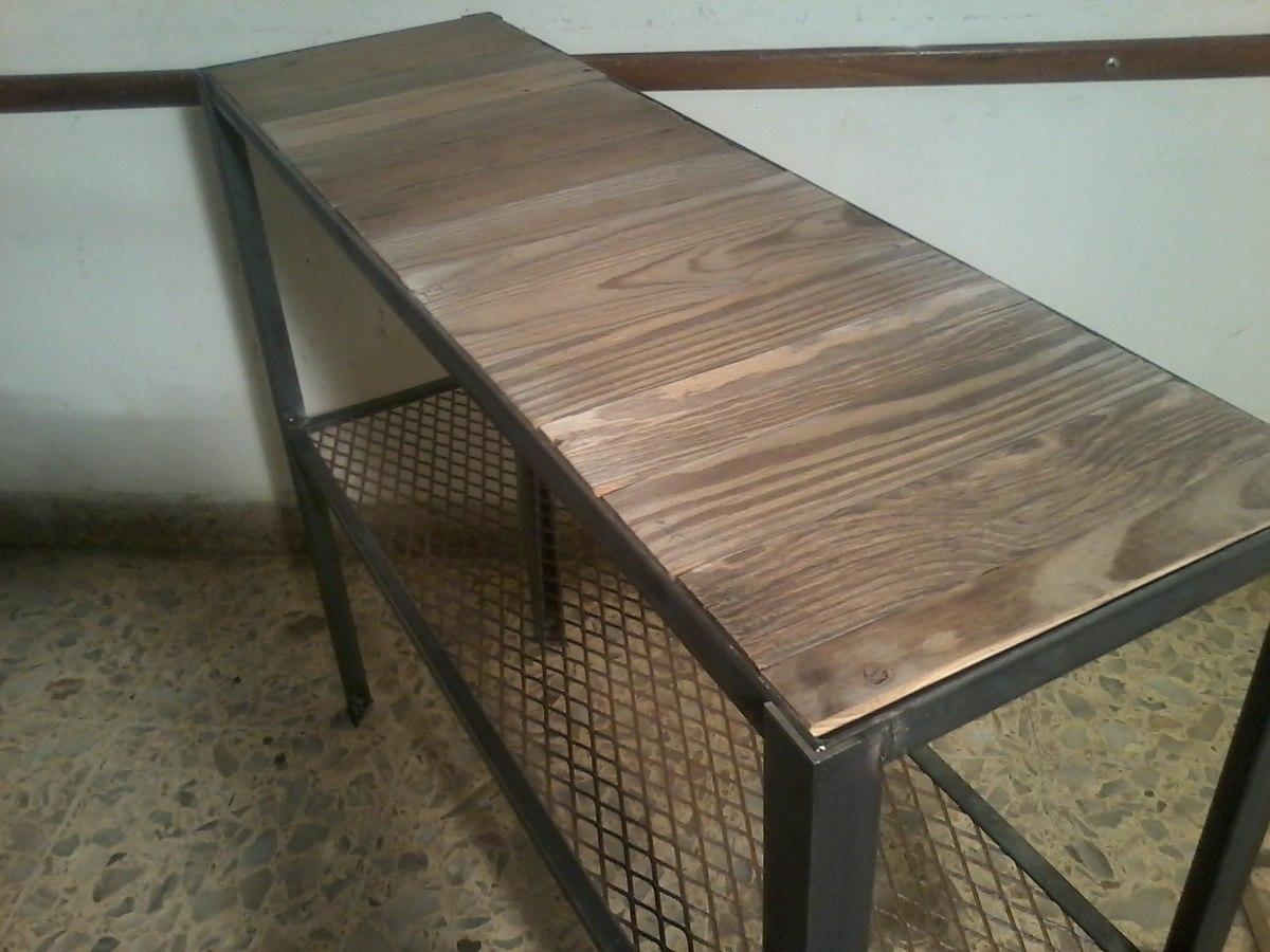 Muebles De Hierro Y Madera,mesa De Arrime Estilo Industrial ...