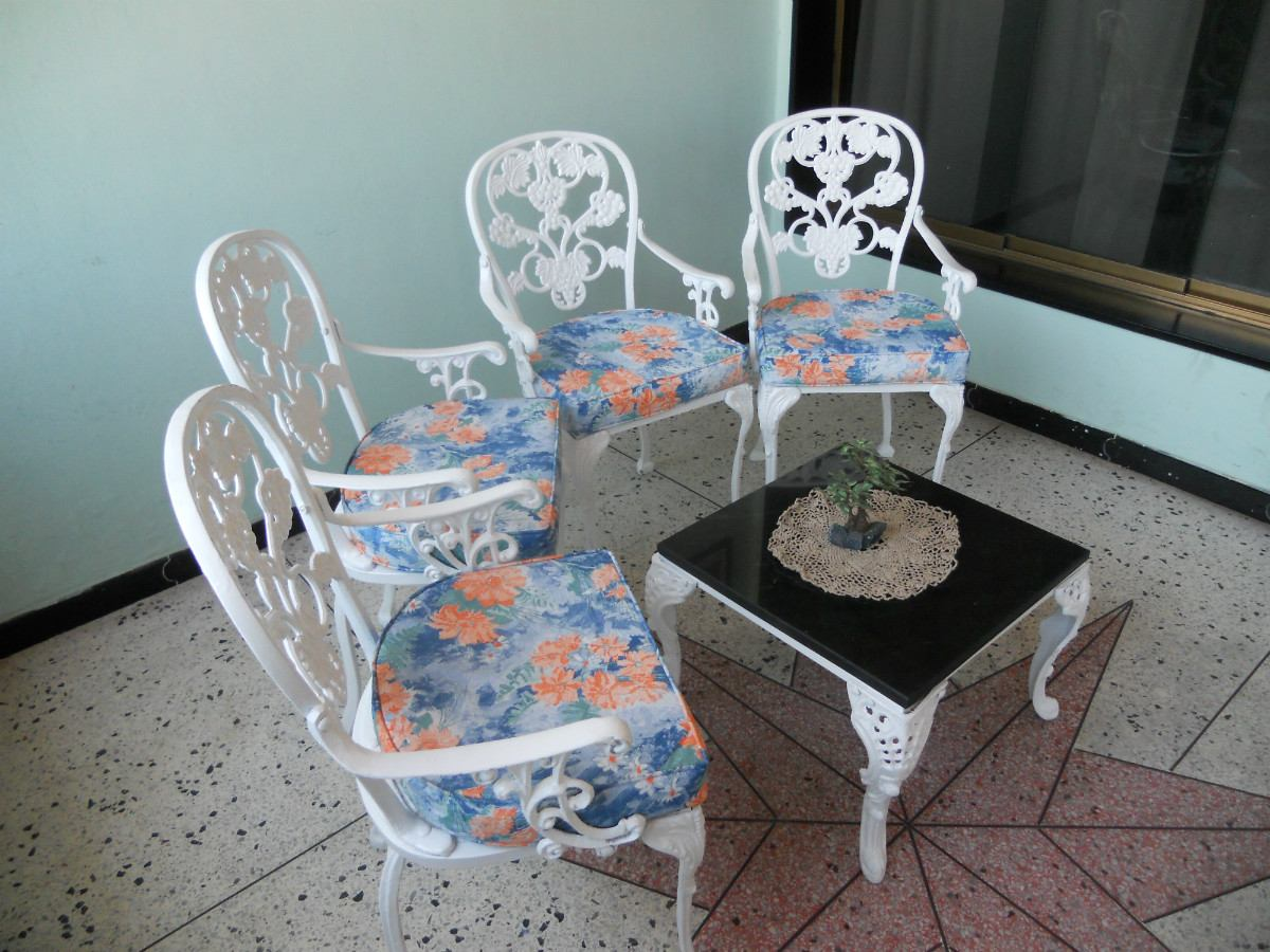 Muebles De Jardin De Hierro Fundido Recibos,comedores.modelo - Bs ...
