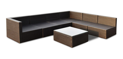 muebles de jardín sala de rattan pe en color negro