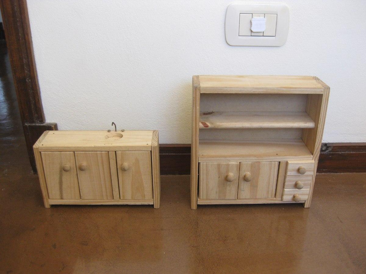 Muebles De Madera De Pino De Jueguete Para Las Barbies 210 00  # Muebles Hechos A Mano
