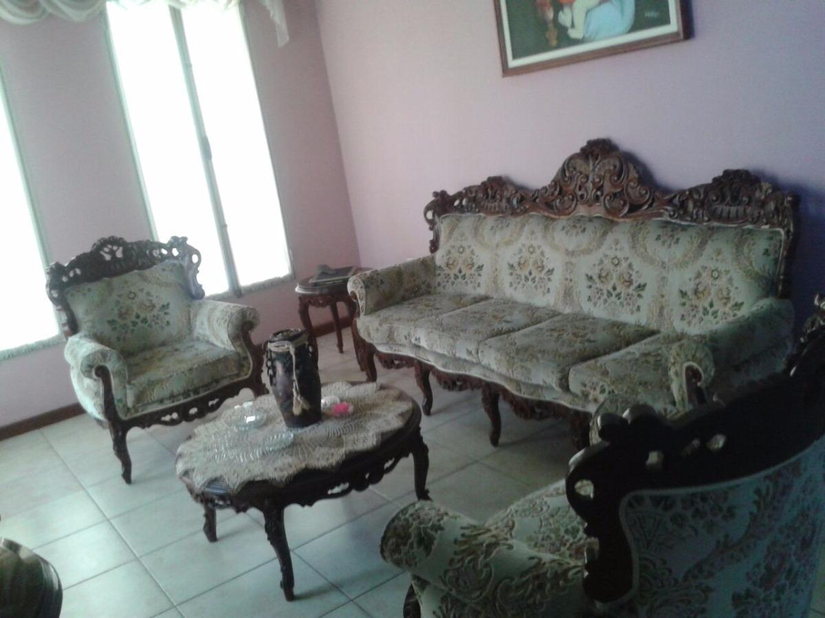 Muebles de madera juego de sala y comedor estilo barroco for Muebles de sala y comedor