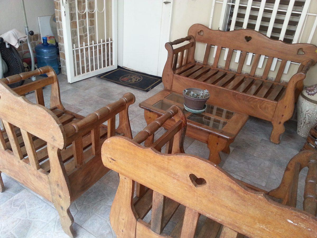 Muebles de madera magdaleno bs 1 40 en mercado libre for Muebles rusticos en madera