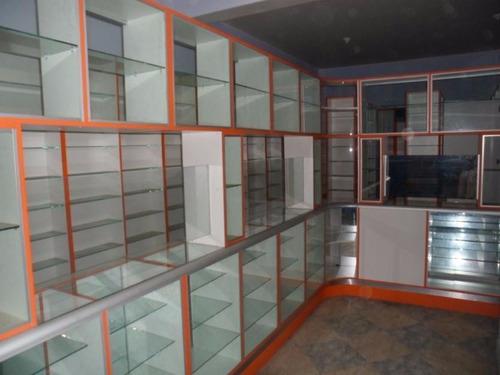 Muebles de melamine para botica s 80 00 en mercado libre - Vitrinas empotradas en pared ...