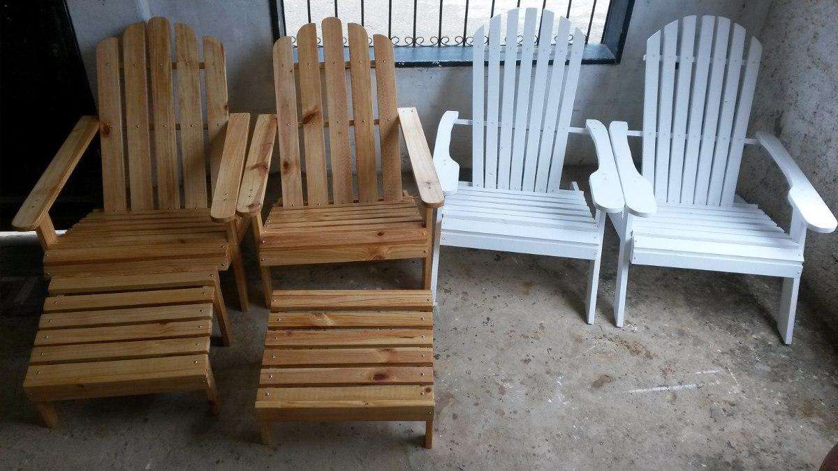 Muebles de paletas o sillas adirondack al natural o pintadas bs 63 95 en mercado libre - Muebles al natural ...
