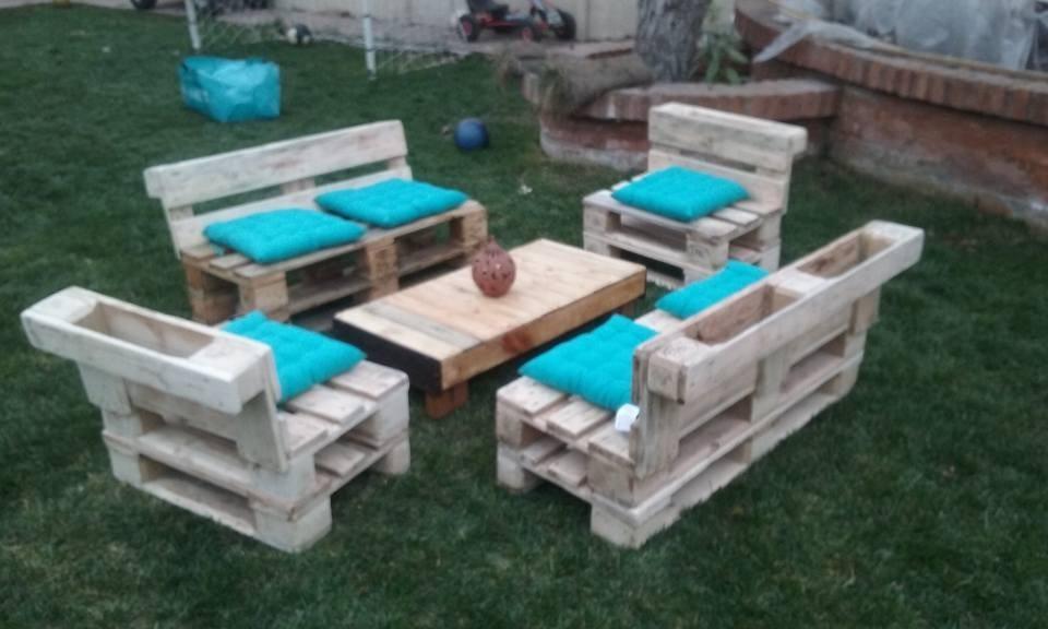 Muebles de palets en mercado libre for Muebles jardin madera palet