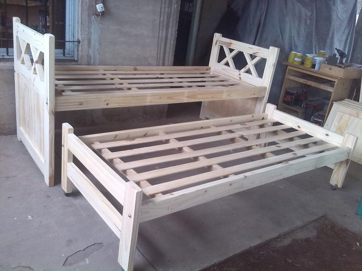 Muebles De Pino Cama Nido Respaldo Xx Monte Grande - $ 2.160,00 en ...