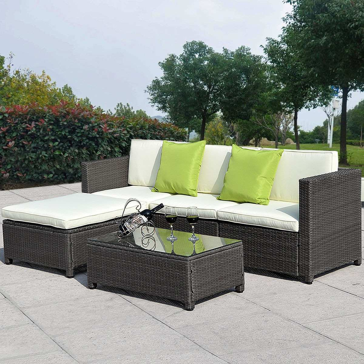 Muebles de ratan para jardin set 15 en mercado for Muebles ratan jardin