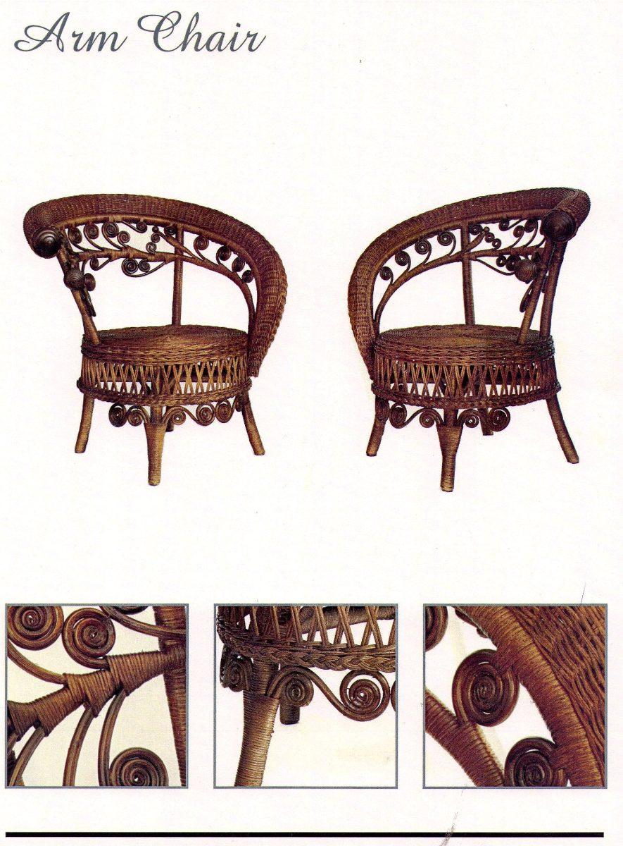 Muebles de rattan estilo victoriano sin uso 1 00 en for Muebles rattan montevideo