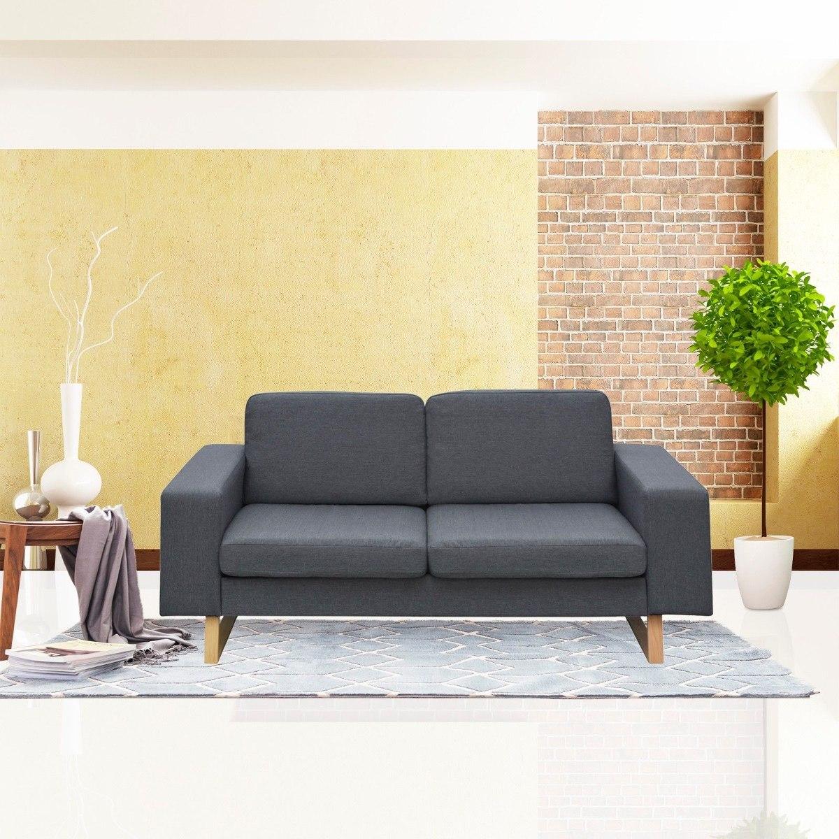 Muebles de sala de estar sof de dos plazas tela sof sof for Muebles industriales sala de estar