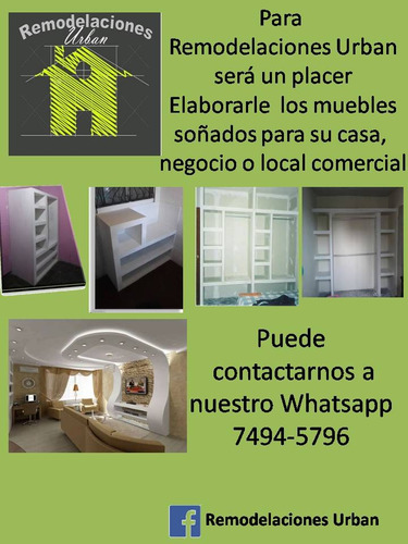 muebles de tablaroca para casa,oficina y local comercial