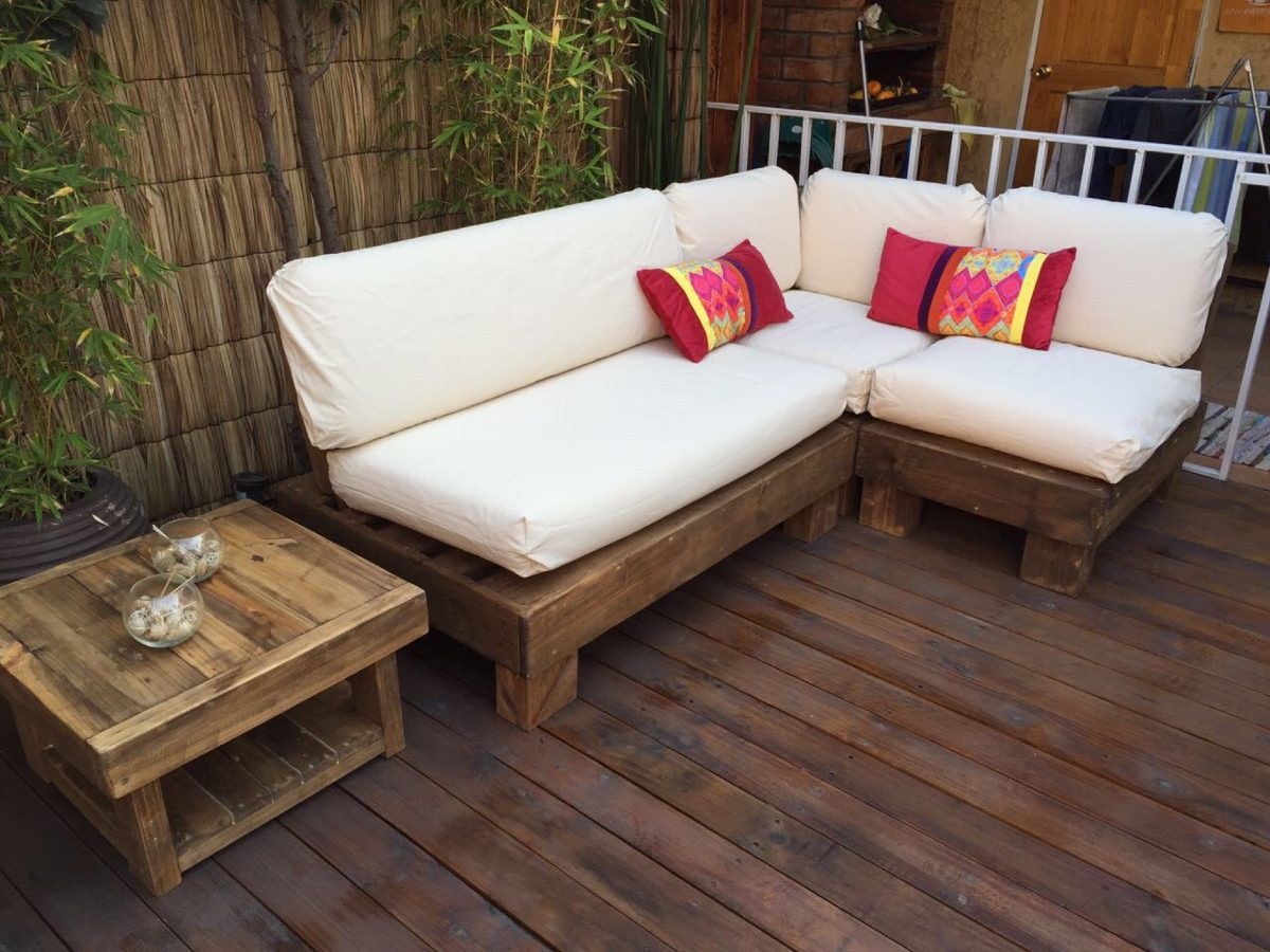 Muebles pallets terraza 20170824031613 for Muebles terraza
