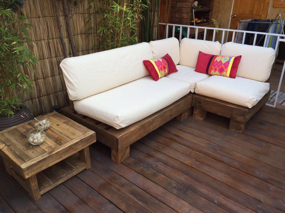 Muebles De Terraza Departamento Hechos De Pallets Palet  $ 480000 en