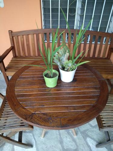 muebles de terraza, según foto