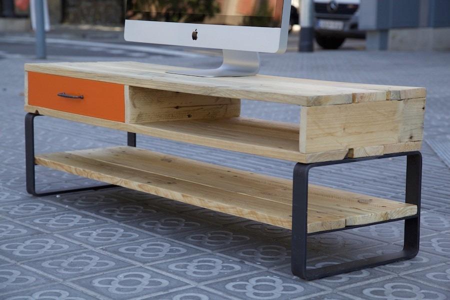 Muebles de tv de hierro y madera de pallets    2.999,00 en ...