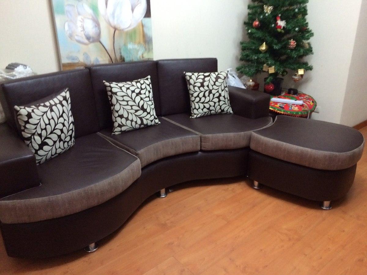 Muebles en fotma de l reversible marron y tabaco y cromado for Muebles en l