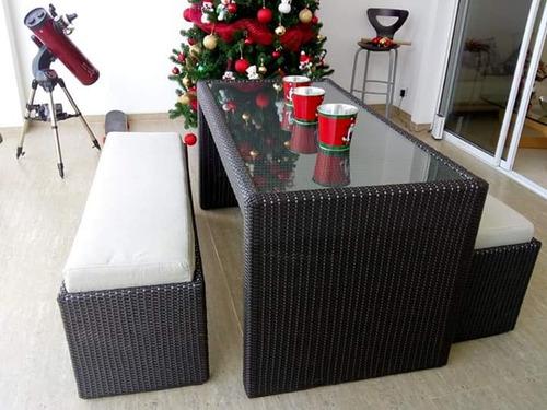 muebles en mimbre sala comedor juego de cuarto buenos precio