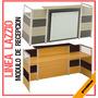 Modulo De Recepción Lazzio Mdf Mobiliario Oficinas Gris