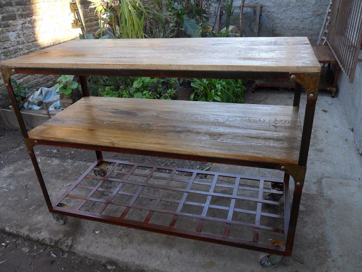 muebles estilo industrial de hierro y madera cargando zoom - Muebles Estilo Industrial