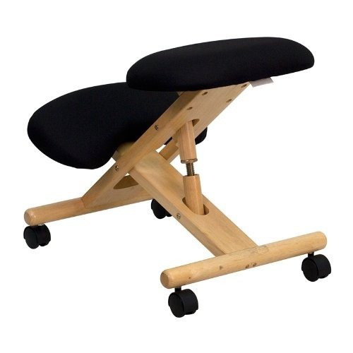 muebles flash sb-wl gg móvil silla de rodilla de madera erg