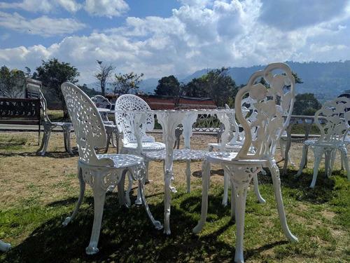 muebles forja aluminio