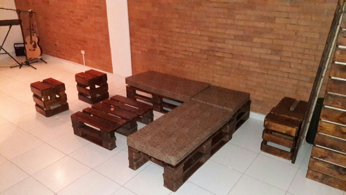 muebles hechos con estibas o palets en mercado libre