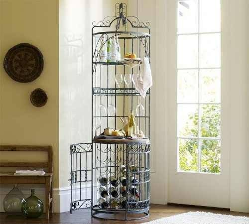 Muebles hierro forjado decoracionde interiores vineros for Muebles de cocina de hierro