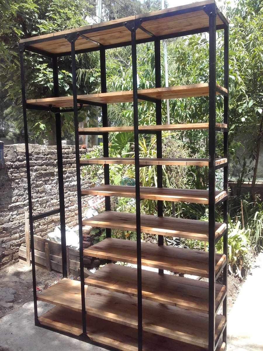 Muebles de madera y hierro mesa tv en metal y madera de - Muebles de madera y hierro ...