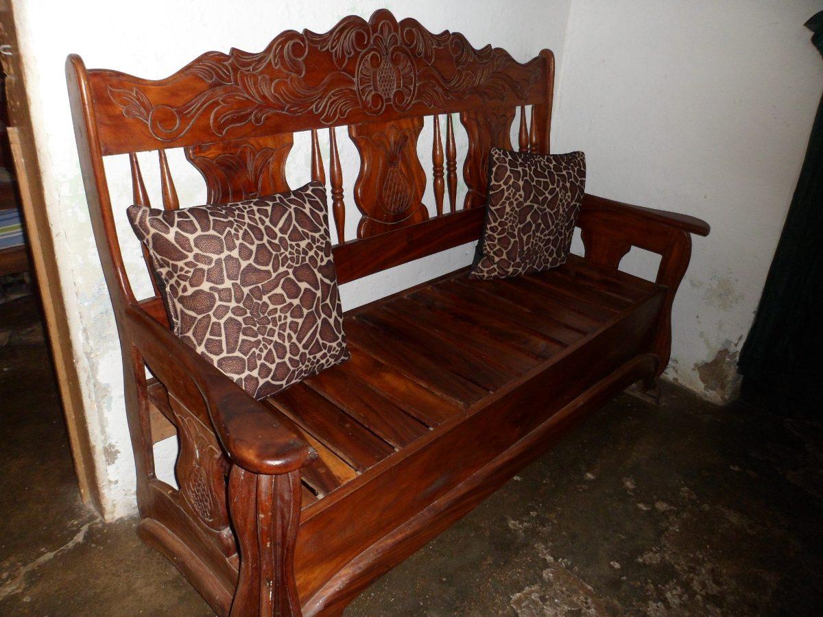 Muebles de madera country juego de sala de saman bs 0 - Muebles madera ...
