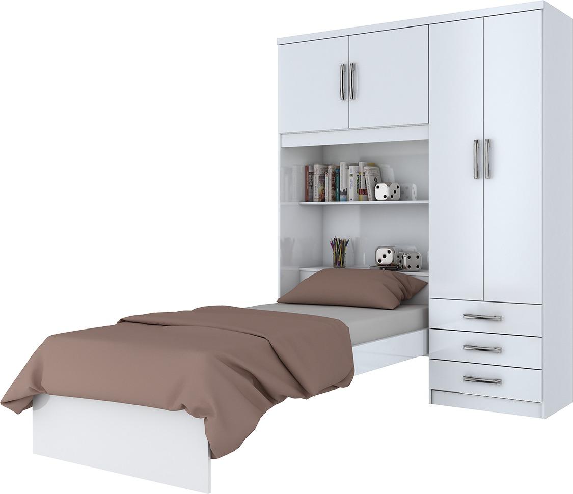 Muebles Mbs Cama Ropero Dormitorio Blanco Mobelstore - $ 6.320,00 en ...