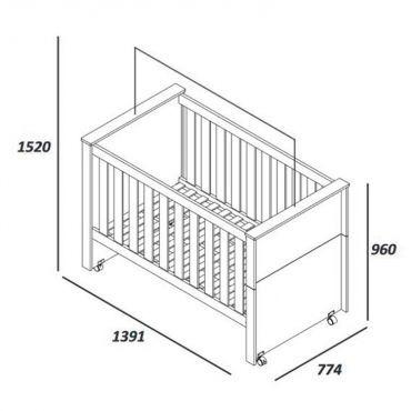 Encantador Cuna Con Muebles De Ruedas Composición - Muebles Para ...
